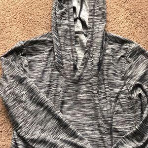 Gray workout sweater